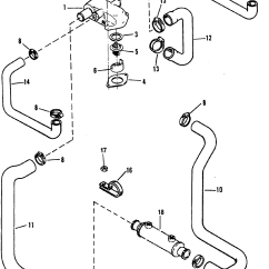 Alpha 1 Gen 2 Parts Diagram Chevy Tahoe Interior Standard Cooling System Design Ii For Mercruiser 4 3l