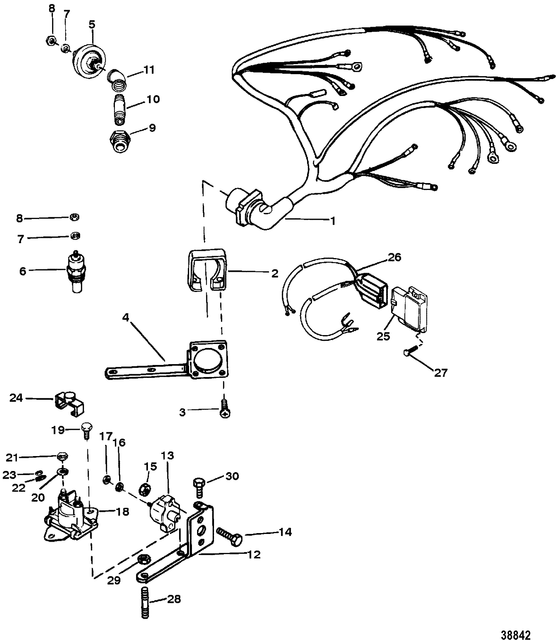 mercruiser wiring diagram 7 4 motorguide trolling motor parts harness electrical mounted on distributor tb iv for