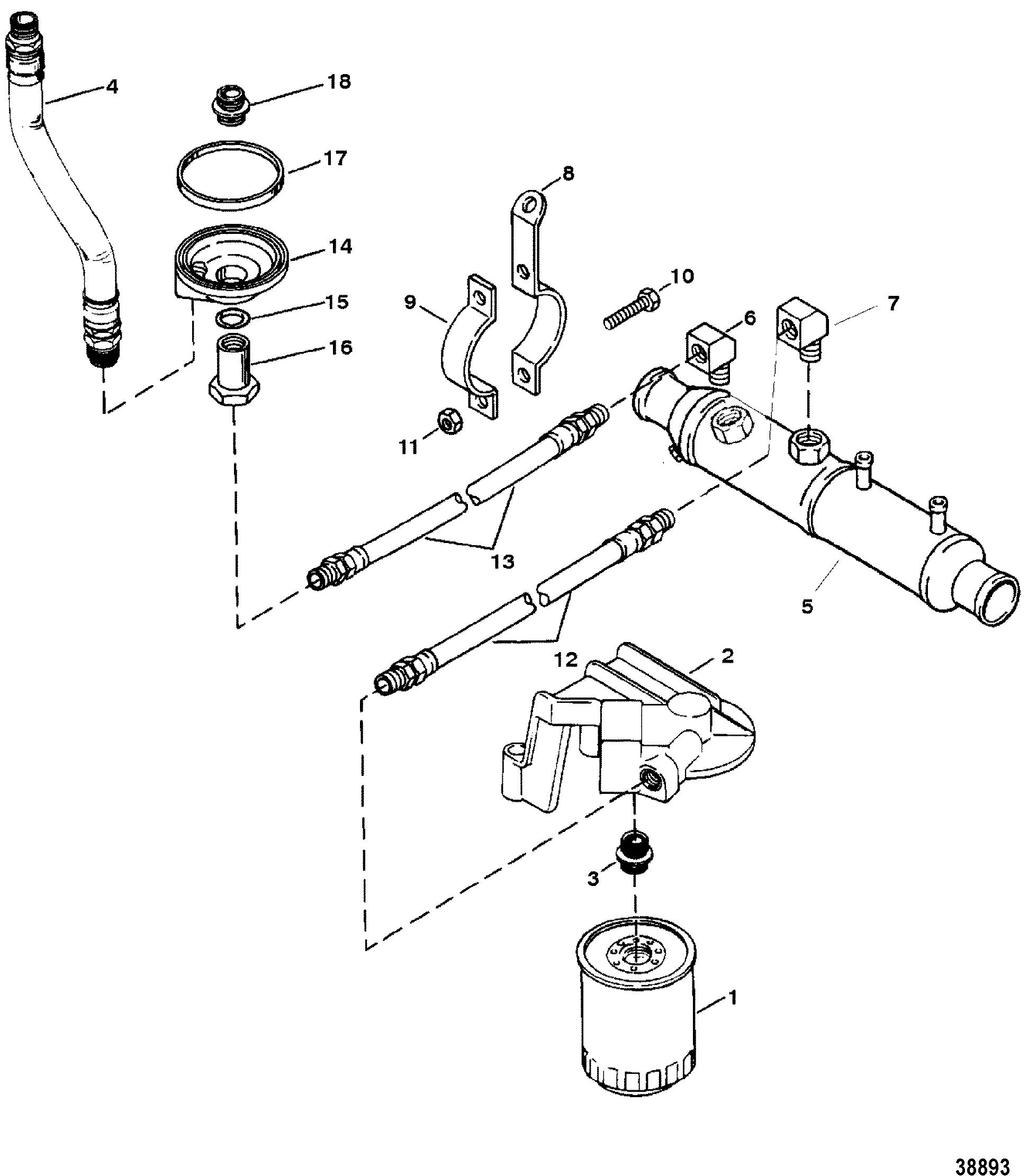 mercruiser wiring diagram 7 4 john deere 210 oil filter and adaptor 4l bravo s n 0f114759 below for