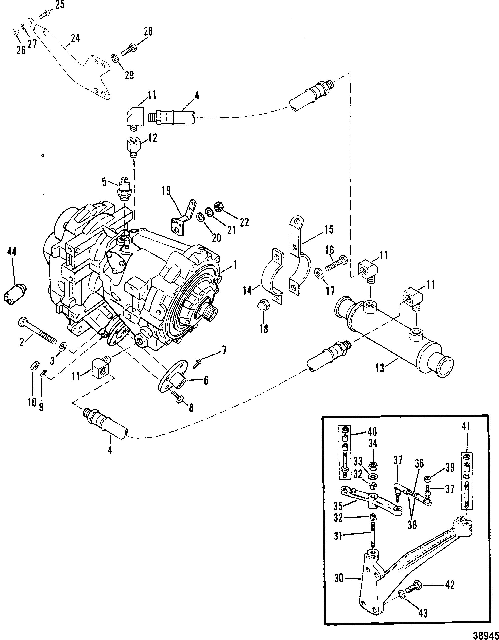 Transmission And Related Parts V Drive For Mie 340 H P 7