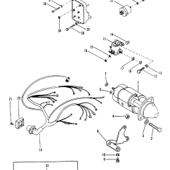 Mercruiser 4 3 Wiring Diagram Double Clipsal Light Switches Starter Motor And Harness For 165 Hp