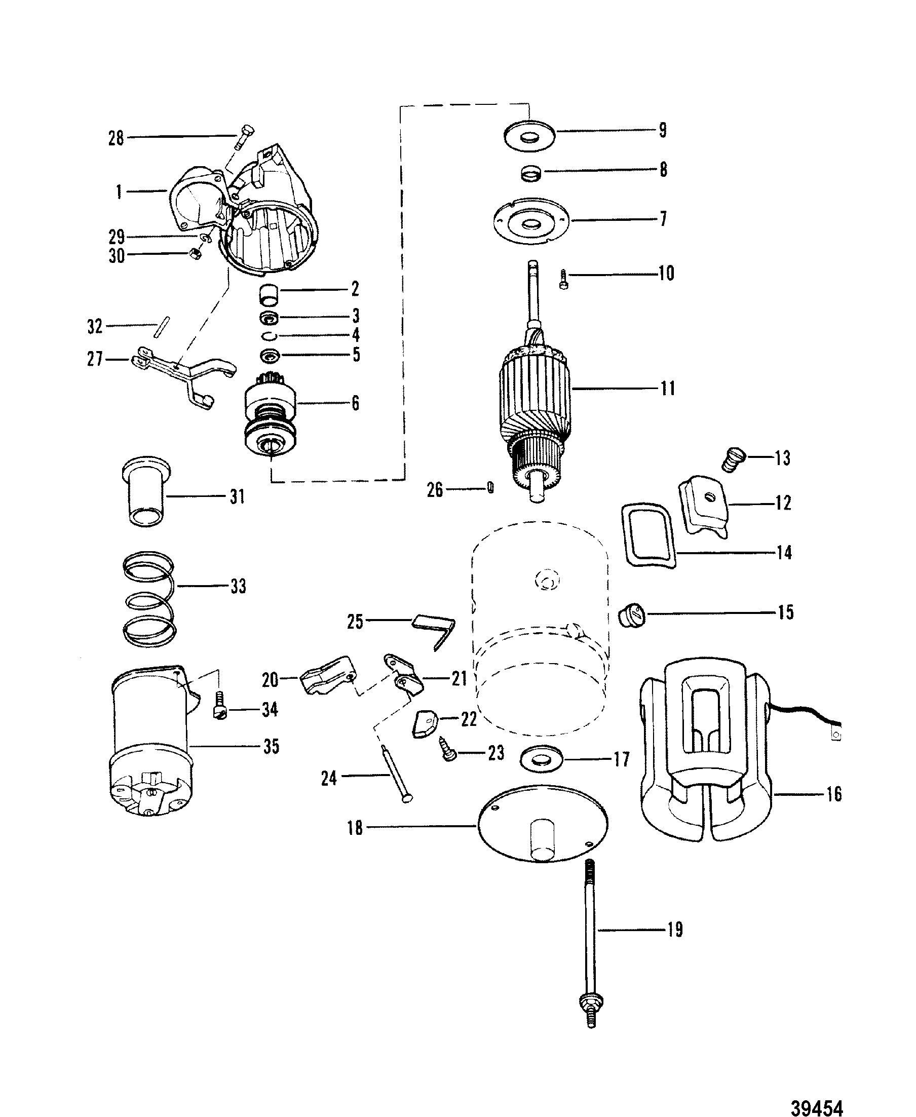 Starter Motor Assembly For Mercruiser 165 Hp