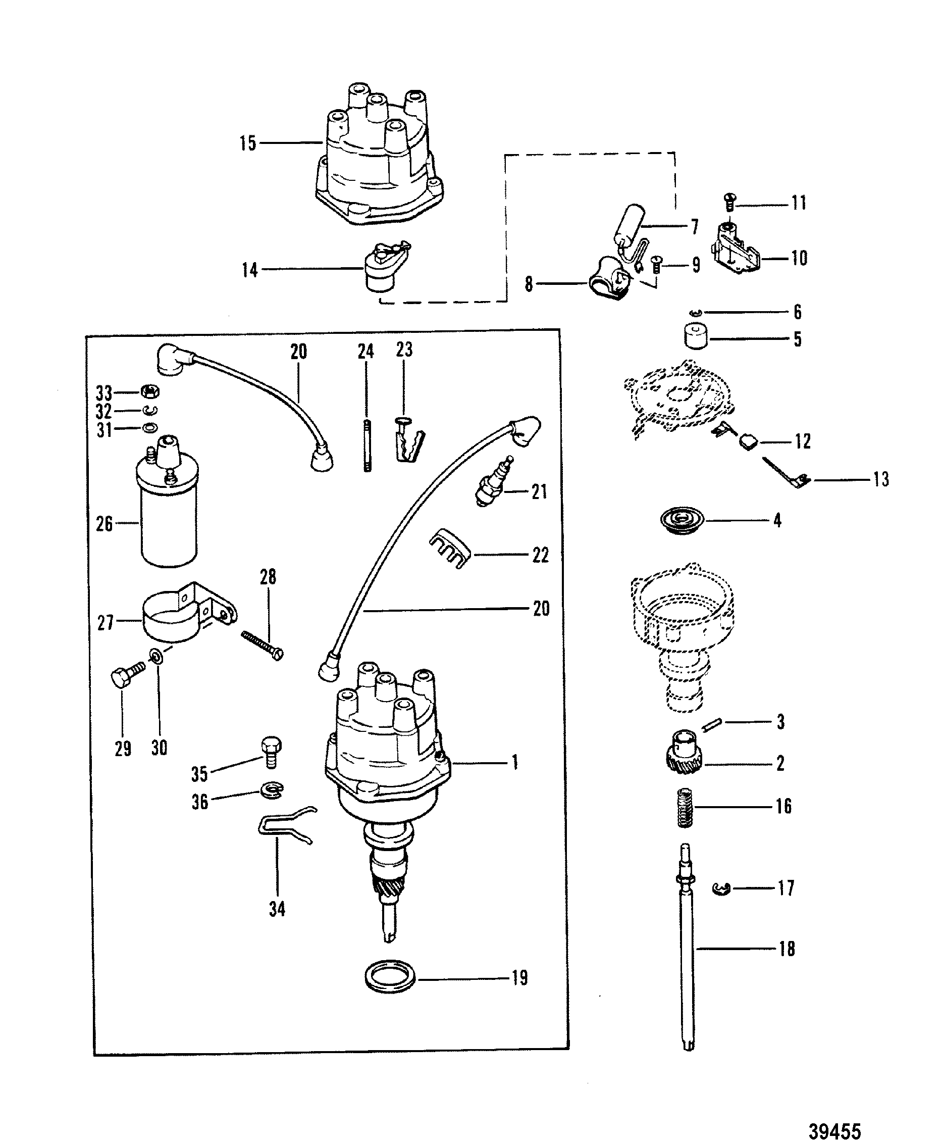 mercruiser thunderbolt ignition wiring diagram parts of a flower simple 7 4 distributor get free image