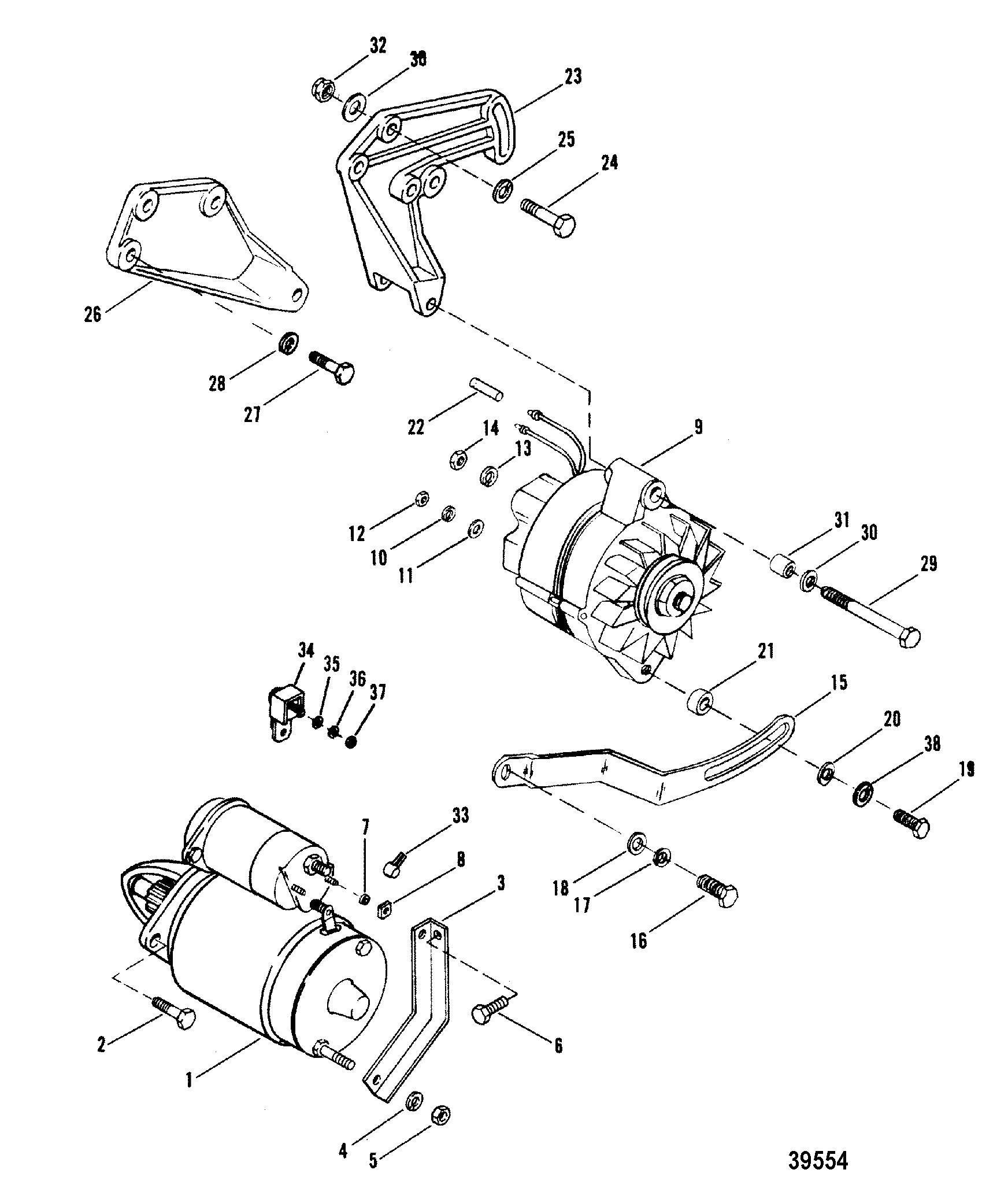 mercruiser 260 alternator wiring diagram flex a lite electric fan controller starter motor and for 898 200 228