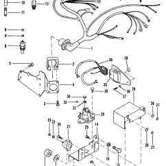 Alpha One Trim Wiring Diagram Submersible Pump Control Panel Harness And Electrical Components For Mercruiser 4
