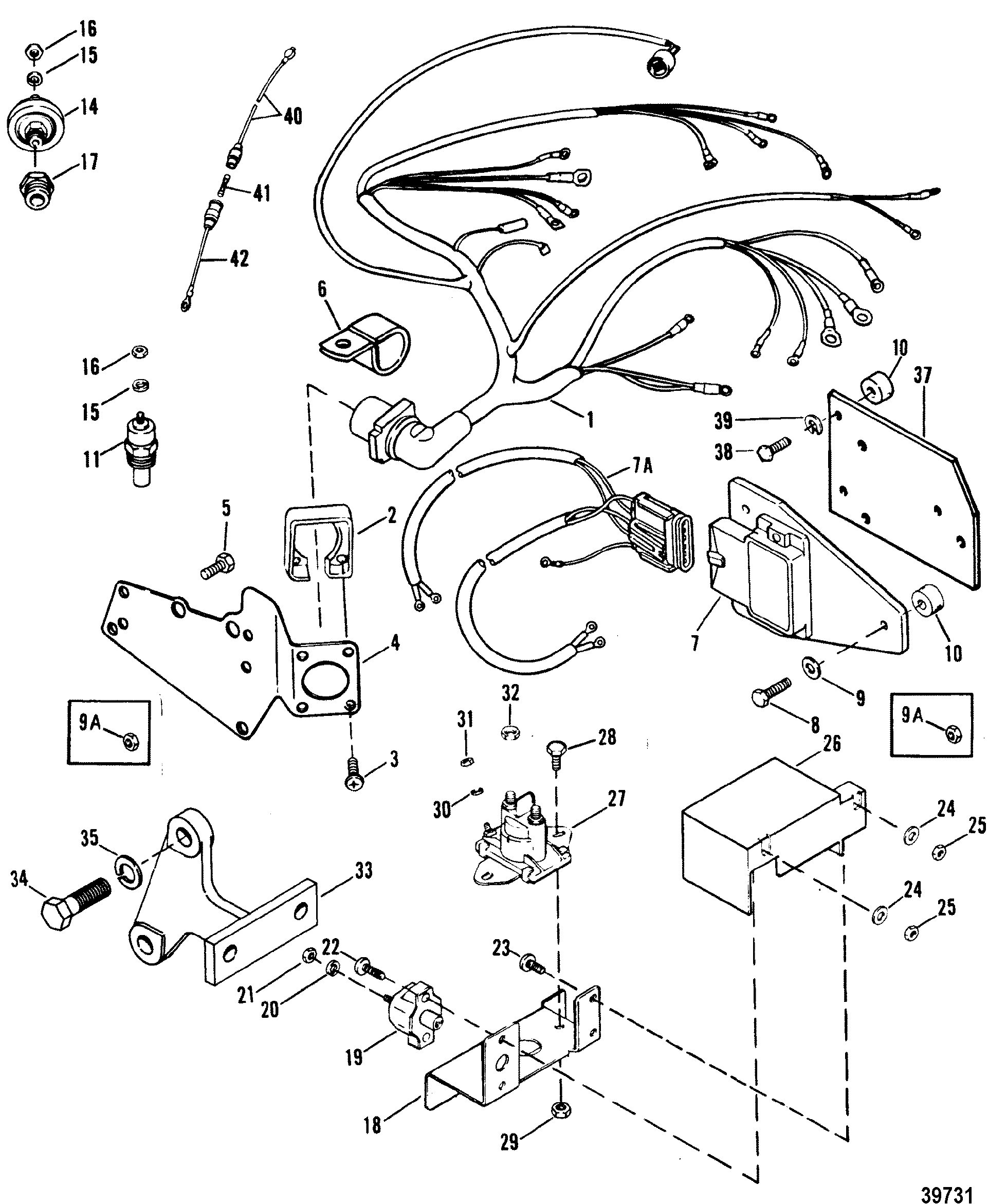 WIRING HARNESS, ELECTRICAL AND IGNITION FOR MERCRUISER 7