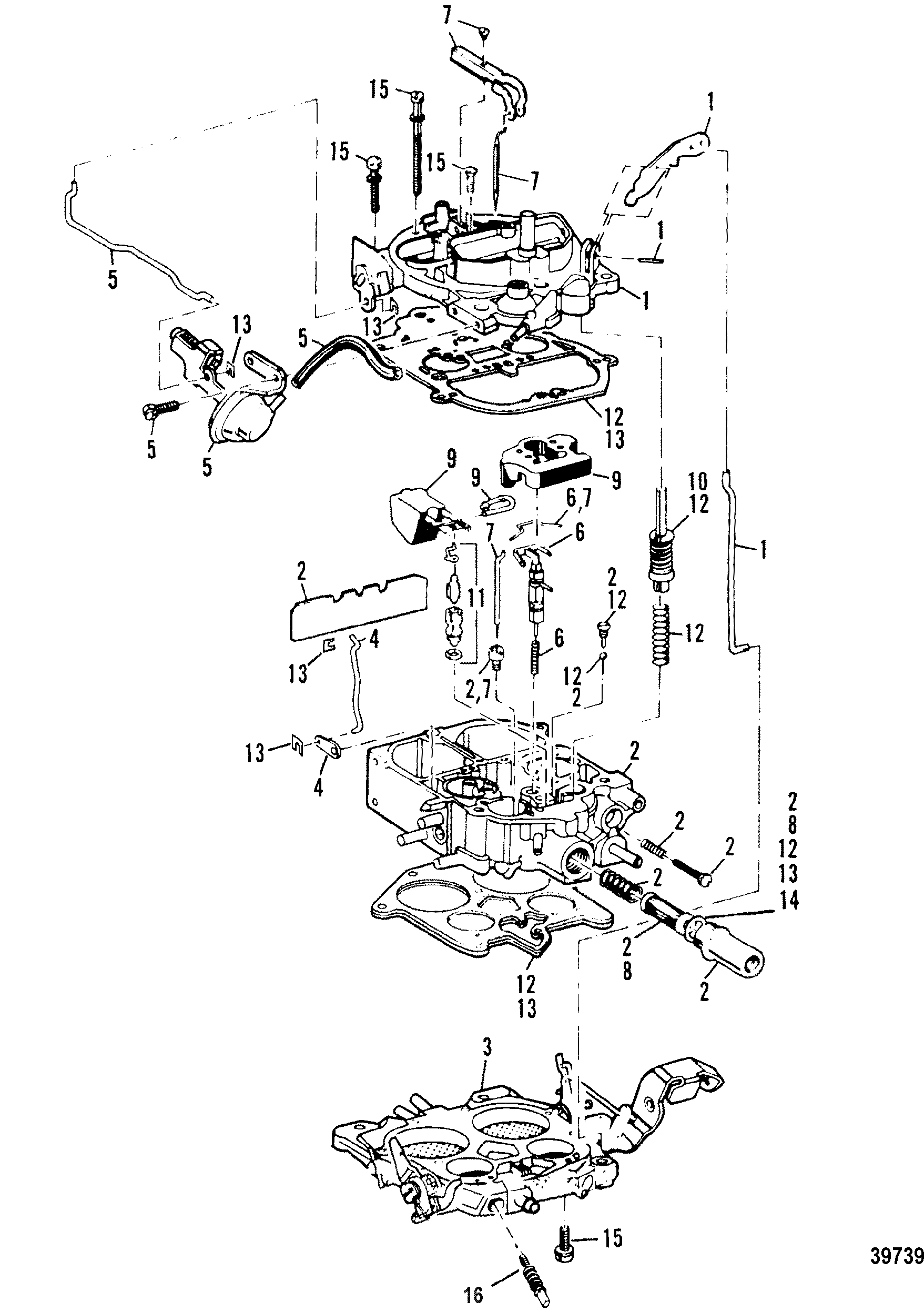 CARBURETOR FOR MERCRUISER 7.4L BRAVO