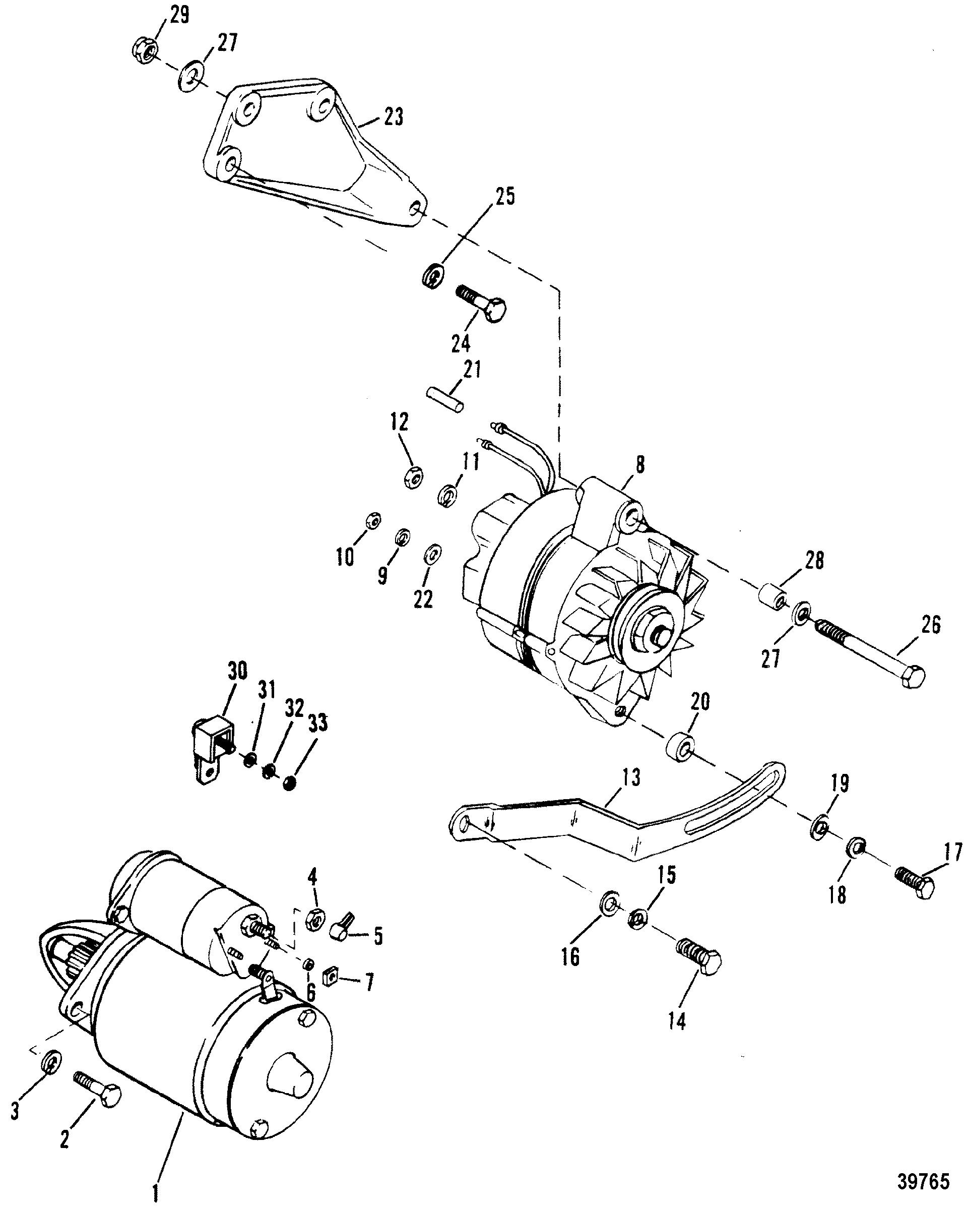 STARTER AND ALTERNATOR FOR MERCRUISER / MIE 230 HP/260 H.P