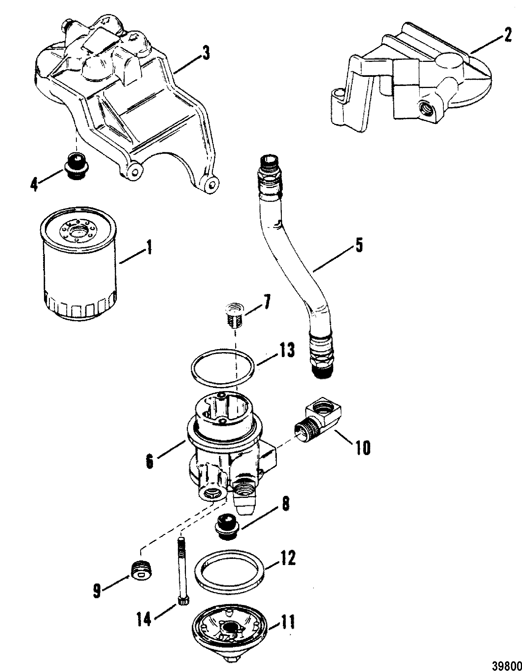 OIL FILTER AND ADAPTER FOR MERCRUISER / MIE 230 HP/260 H.P