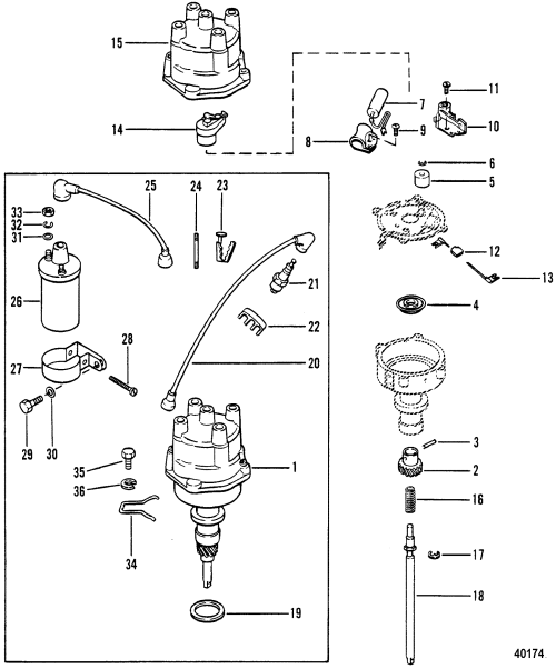 small resolution of mercruiser 470 wiring diagram distributor and coil for mercruiser 470 engine design