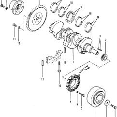 Mercruiser Water Pump Diagram 1972 Chevelle Wiring Crankshaft Flywheel And Alternator For 470 Engine