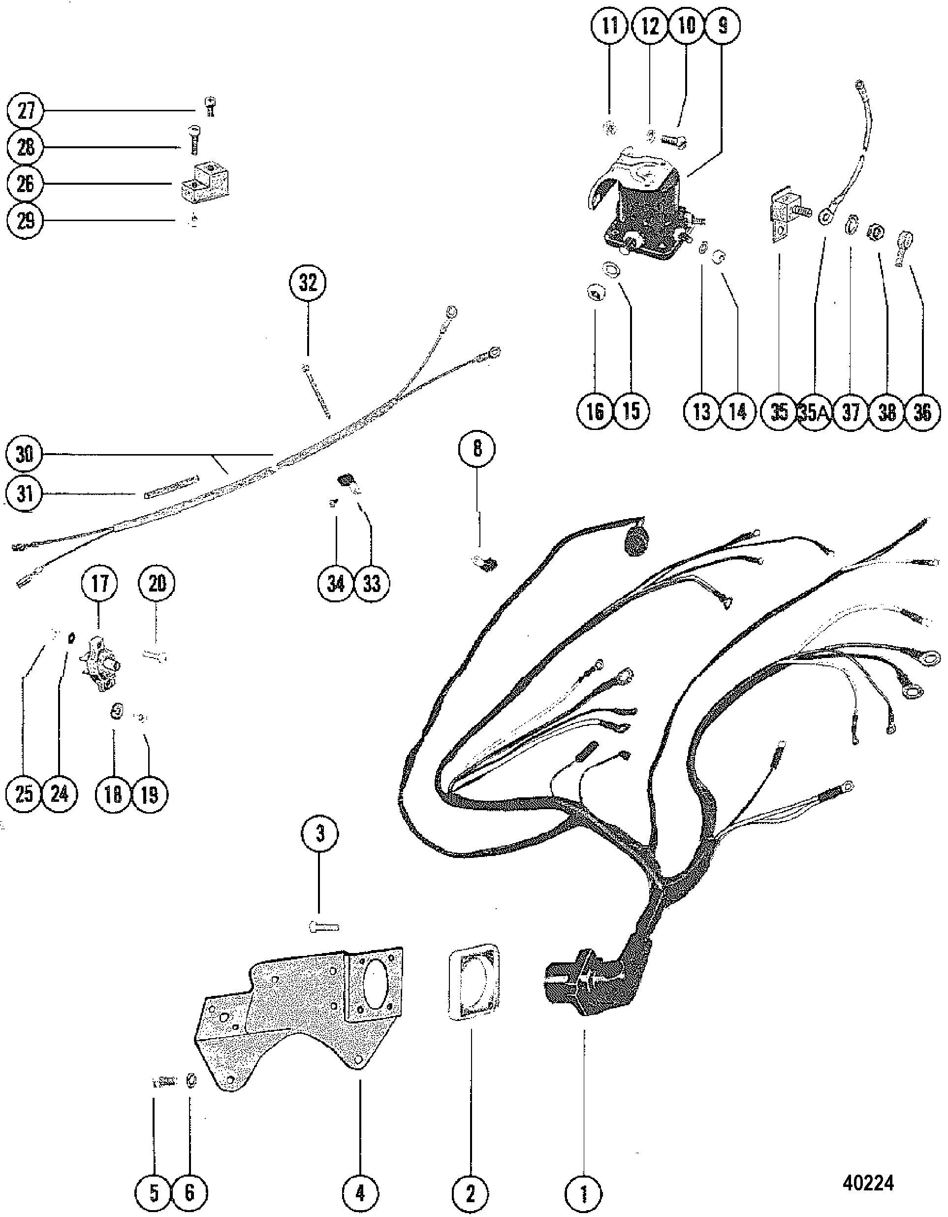 mercruiser 3 0 wiring diagram mg zr electric window engine harness 140 1979 get free image