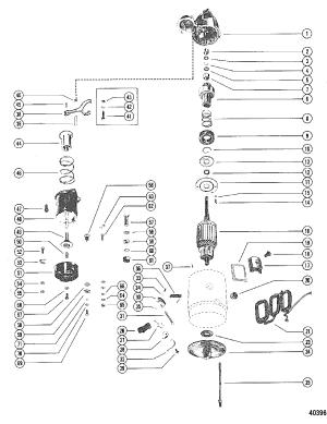 STARTER MOTOR ASSEMBLY DELCO REMY 1109484858890 FOR MERCRUISER 120 ENGINE