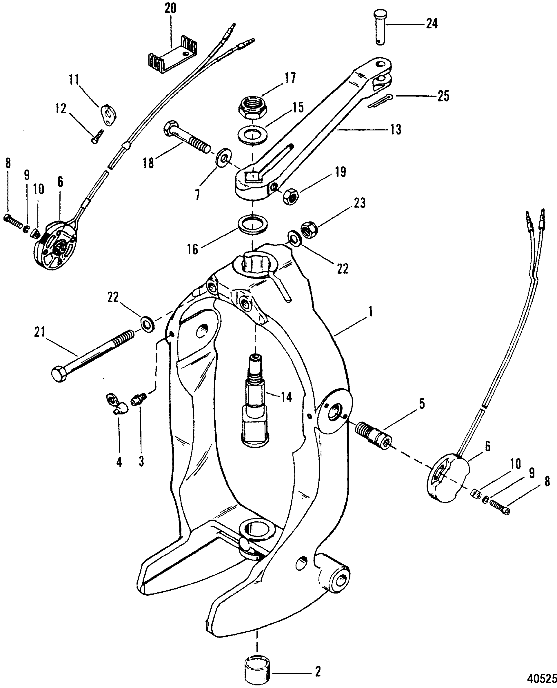 alpha one trim wiring diagram pioneer deh p4400 2 gimbal ring and steering lever for mercruiser