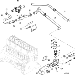 Mercruiser Alpha One Parts Diagram Double Dimmer Switch Wiring Standard Cooling System For 3 0l