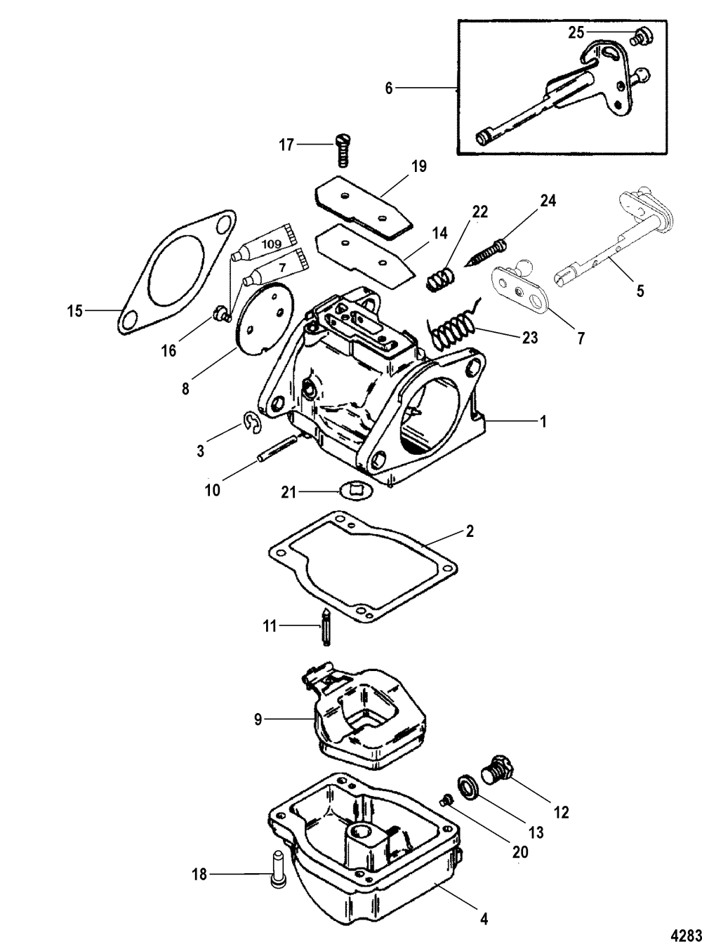 medium resolution of carburetor for mariner mercury 115 125 hp jet 80 4 cylinder 2 stroke mercury 115 2 stroke wiring diagram