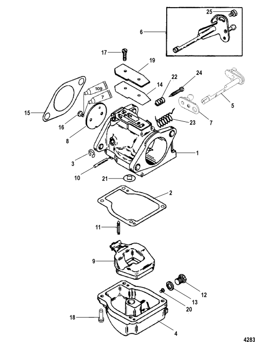 small resolution of carburetor for mariner mercury 115 125 hp jet 80 4 cylinder 2 stroke mercury 115 2 stroke wiring diagram