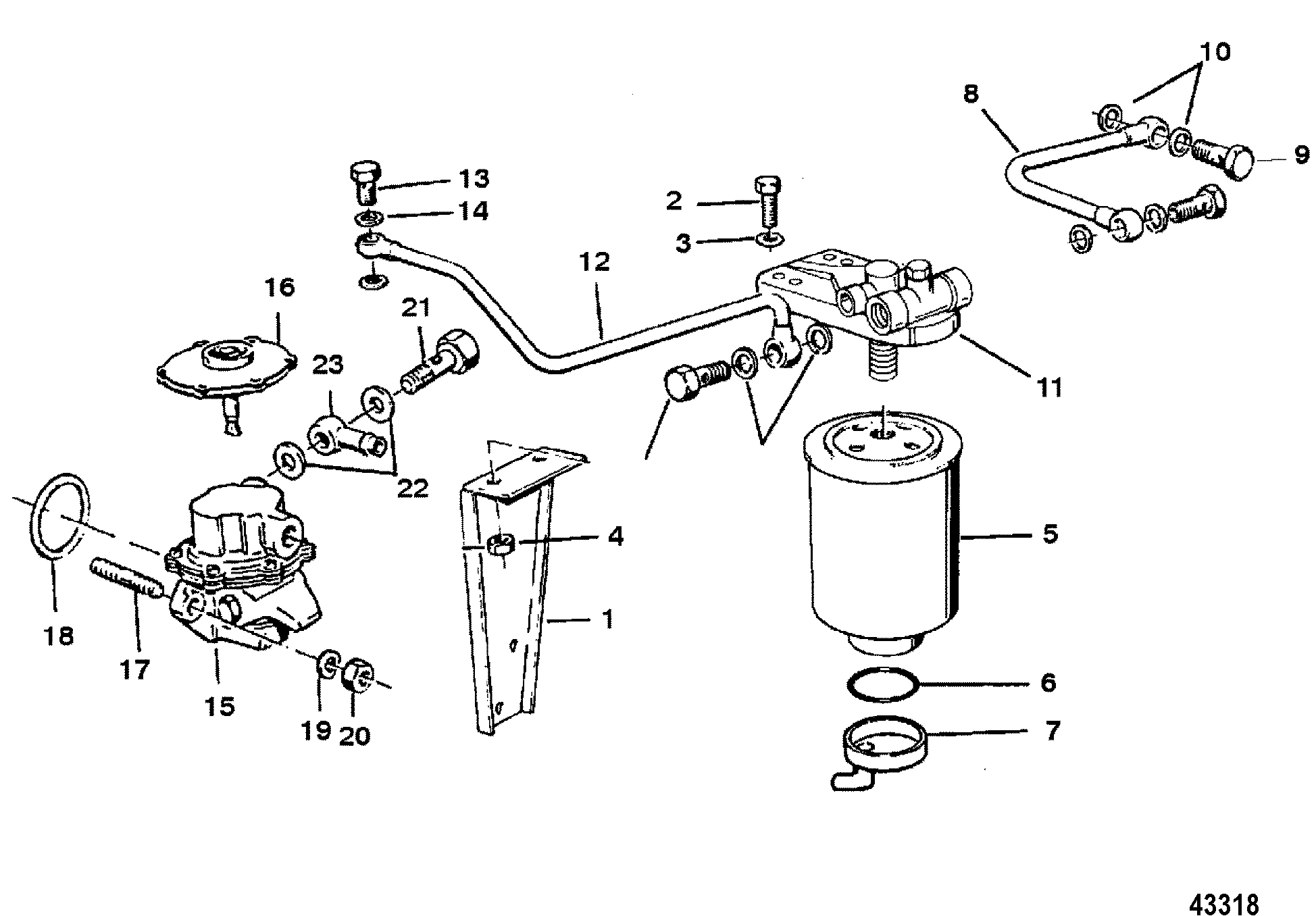 Fuel Filter Serial # D725459, F306929 And Below FOR