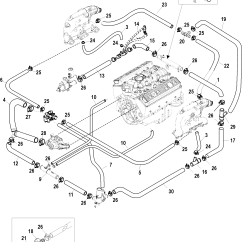 Mercruiser Wiring Diagram 5 7 Speakers Standard Cooling System Bravo Air 3 And Point Drain For