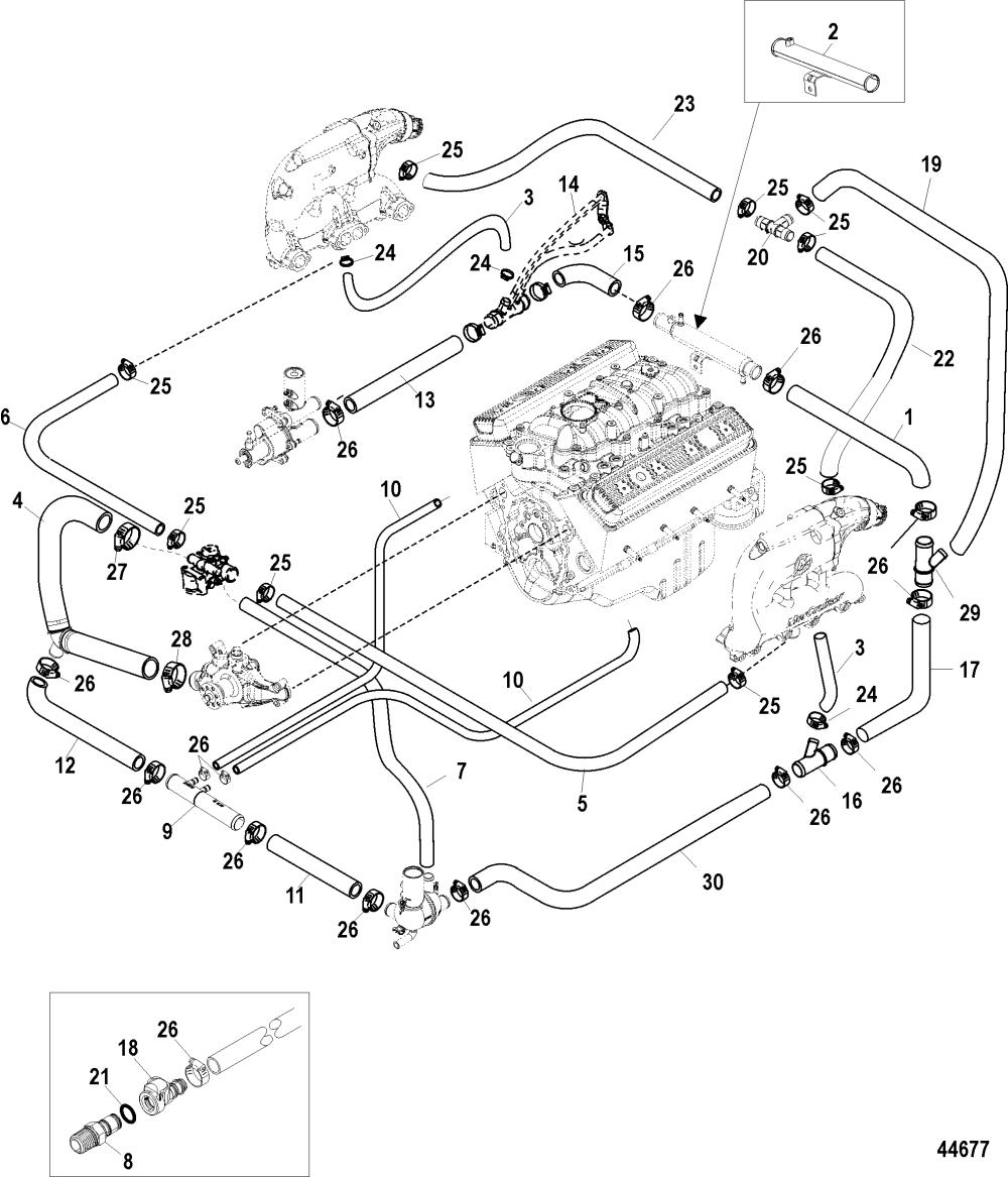 medium resolution of standard cooling system bravo air 3 7 point drain for rh jamestowndistributors com mercruiser 5 7 diagram 5 7 mercruiser engine specifications