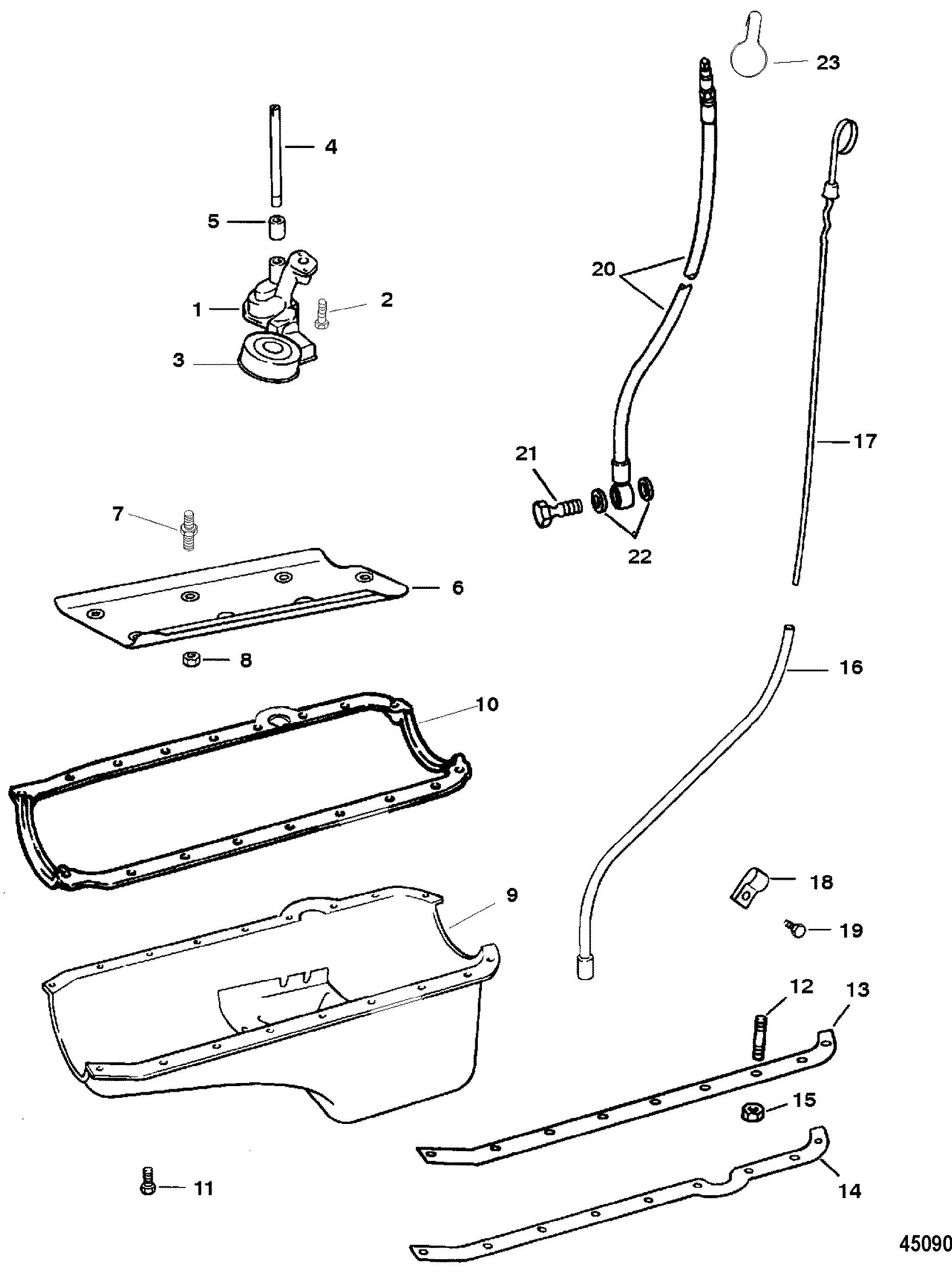 Oil Pan And Oil Pump For Mie 350 Mag Efi Tourn Ski