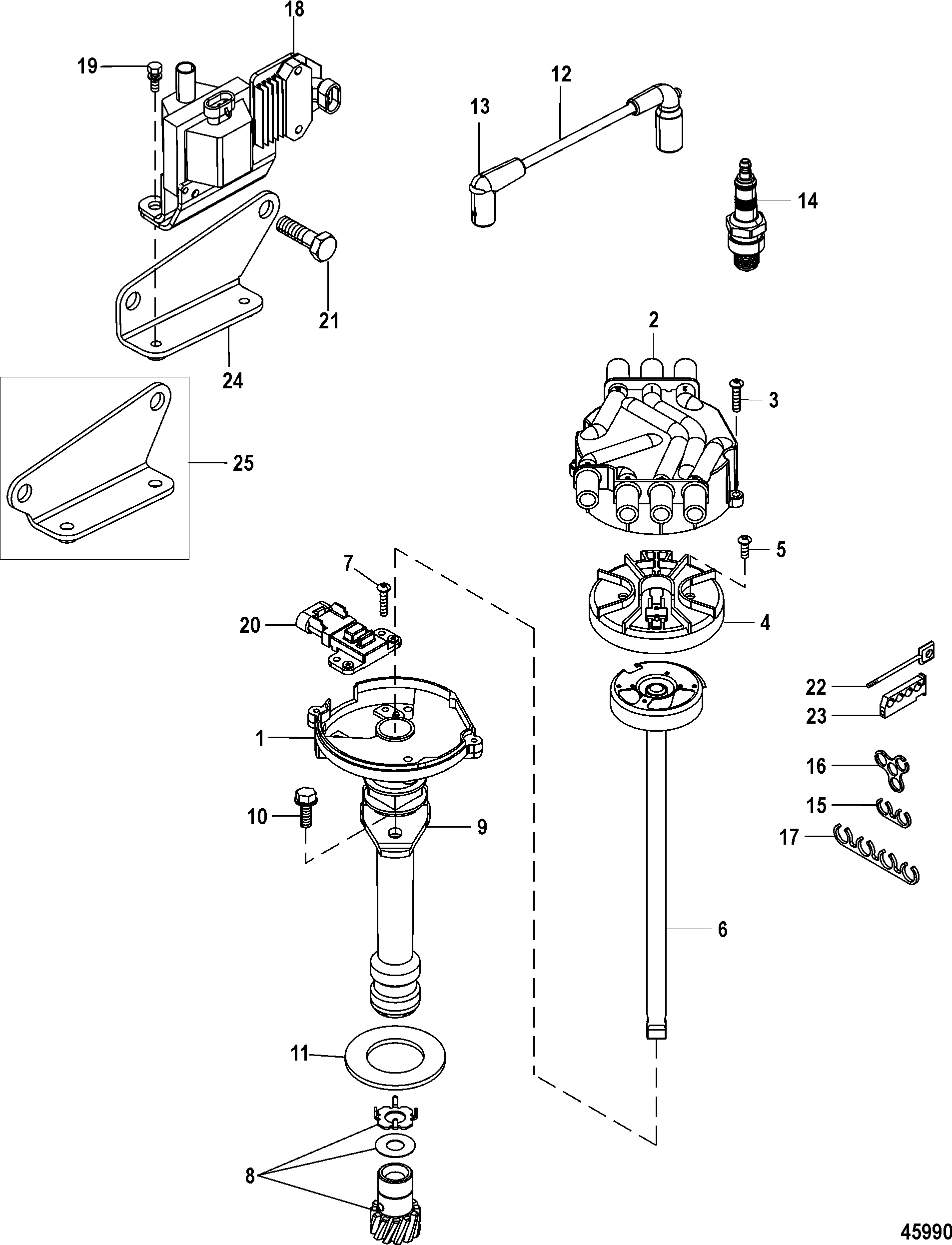 Distributor and Ignition Components FOR MERCRUISER 4.3L