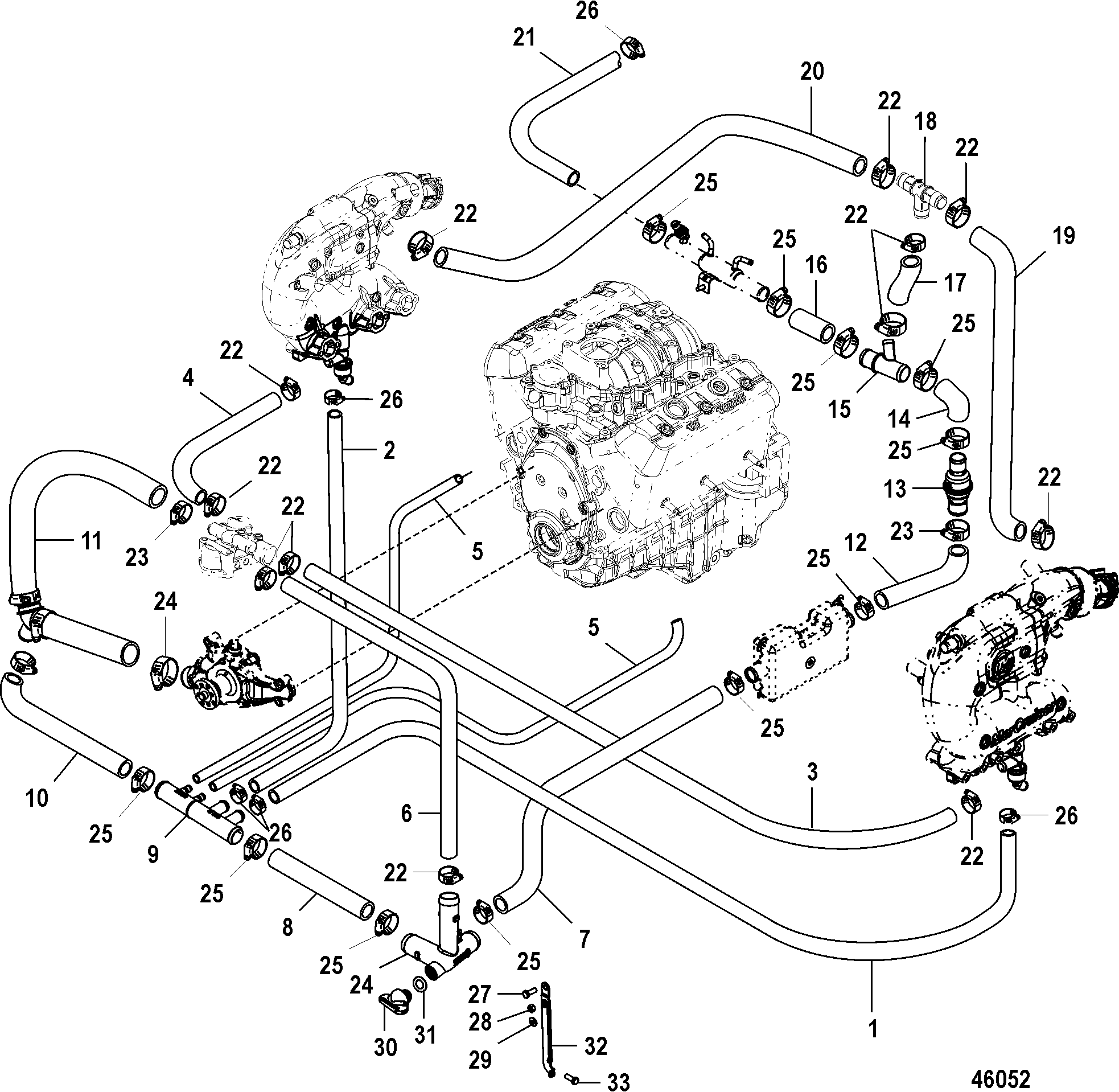 [WRG-1056] Ignition Wiring Diagram 1999 Mercruiser 4 3