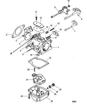 Carburetor FOR MARINER  MERCURY 7590 HP 65 JET 3 CYLINDER
