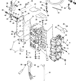 cylinder block for mariner mercury 75 90 hp 65 jet 3 cylinder diagram of 2006 mercury marine mercury outboard 1090412fb electrical [ 1927 x 2517 Pixel ]