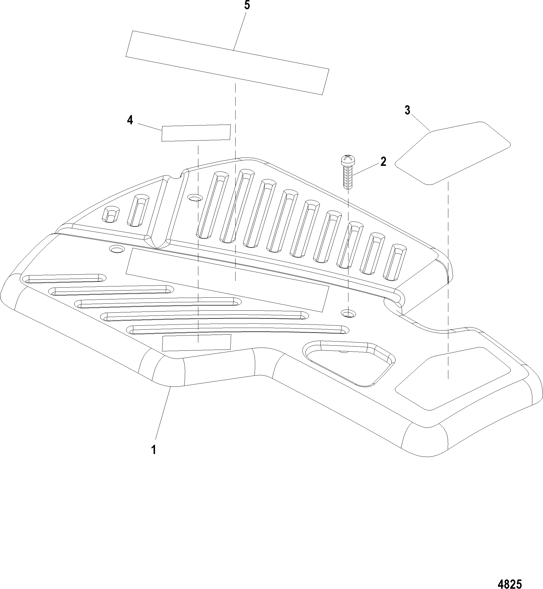 ENGINE COVER FOR MERCRUISER 496 MAG. STERNDRIVE