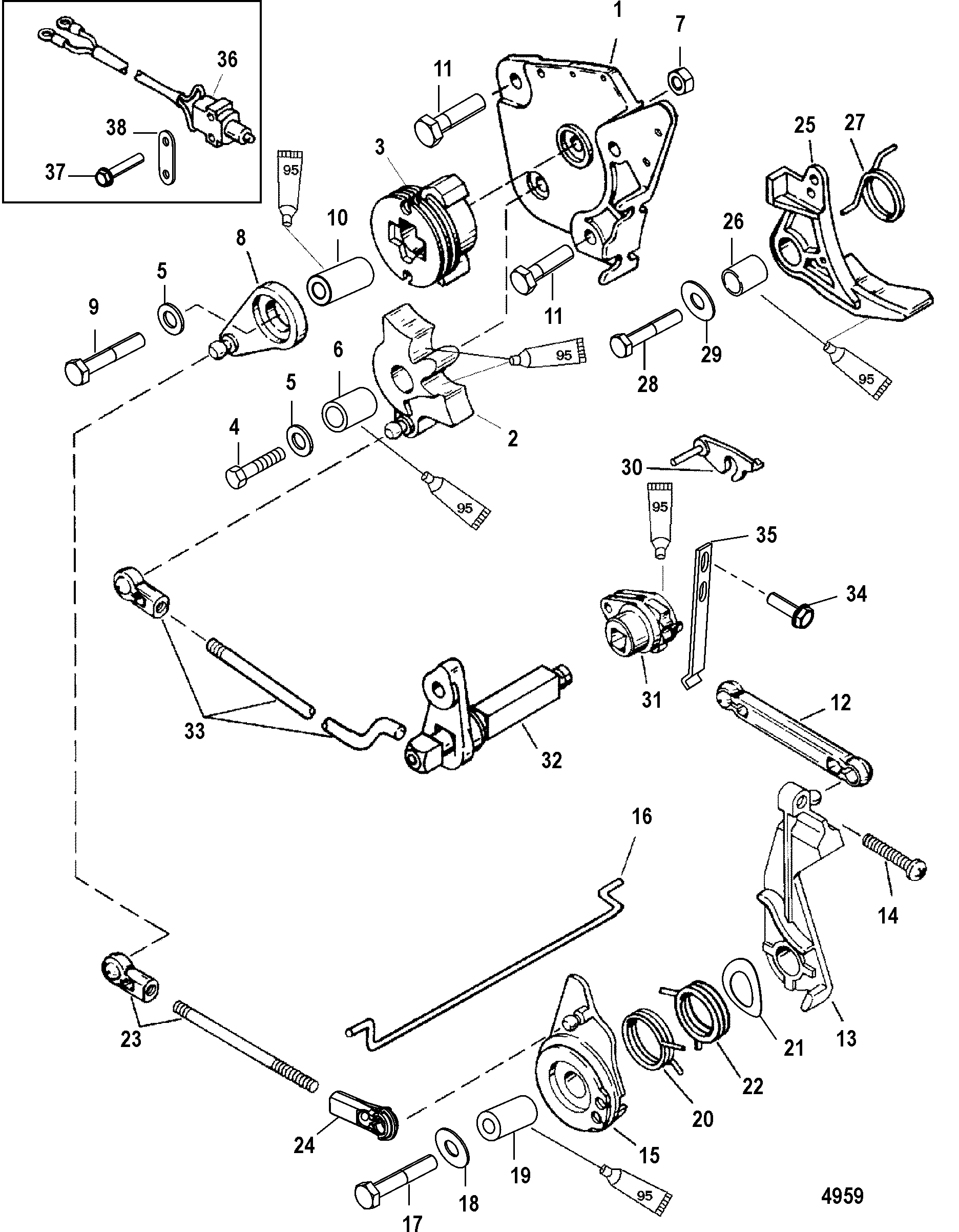 Mercury Quicksilver Throttle Control Diagram