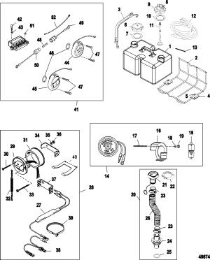 Accessories FOR MERCURY 200 OPTIMAX V6 DFI