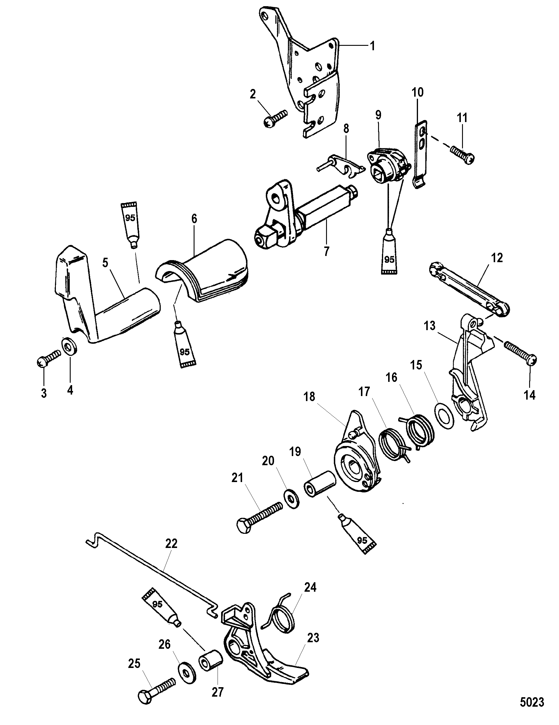 25 Mercury Outboard Throttle Cable Diagram