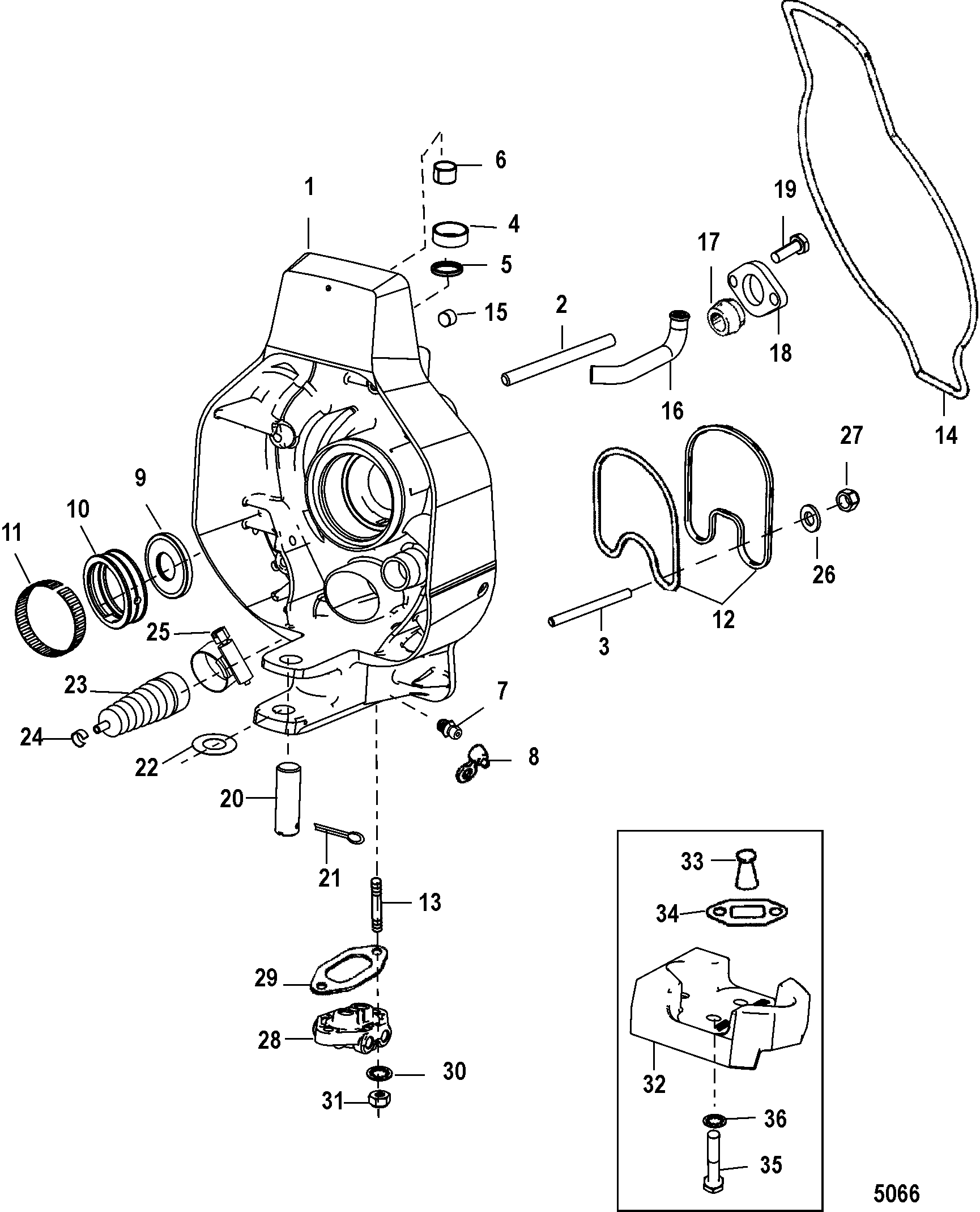 GIMBAL HOUSING FOR MERCRUISER ALPHA ONE GEN II STERNDRIVE