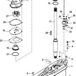 Mercruiser Water Pump Diagram 1998 Chevy Blazer Alternator Wiring Gear Housing Driveshaft Standard Rotation For