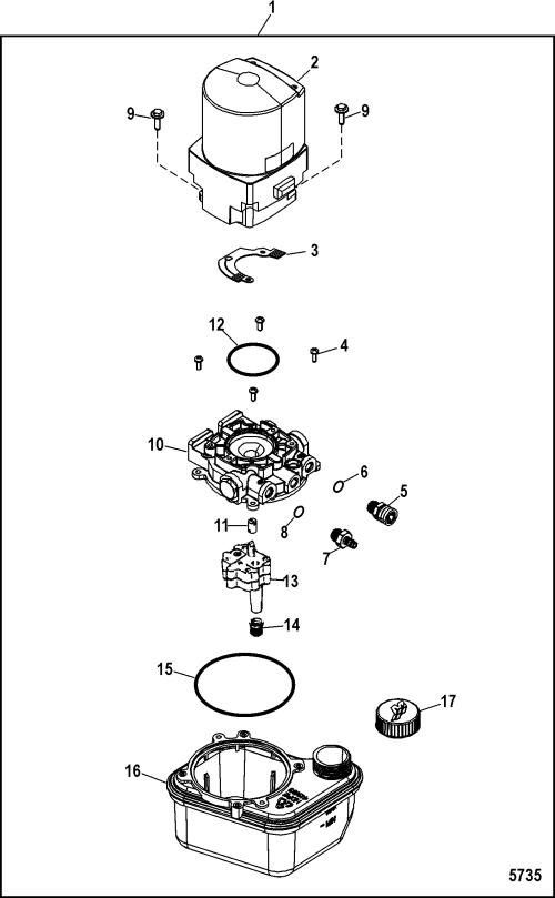 small resolution of trim pump and motor components for mercruiser 4 3l mpi alpha bravo ec rh jamestowndistributors com mercruiser trim pump wiring diagram mercury trim pump
