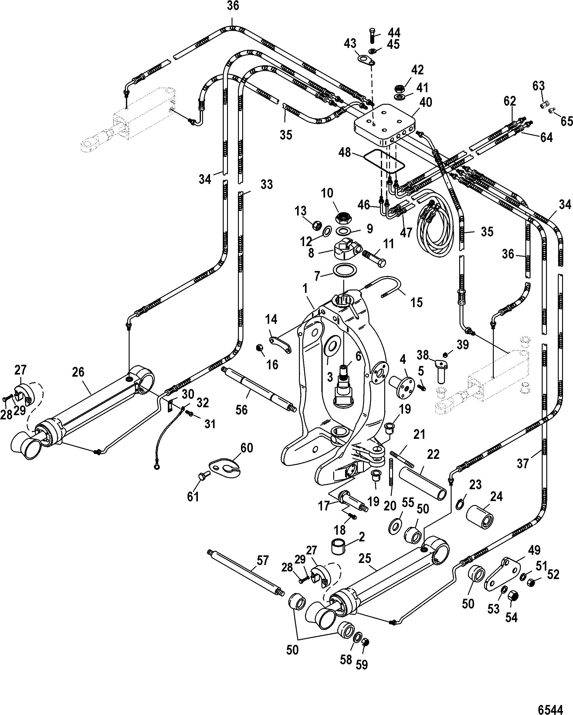 Gimbal Ring Integrated Transom FOR MERCRUISER / RACE