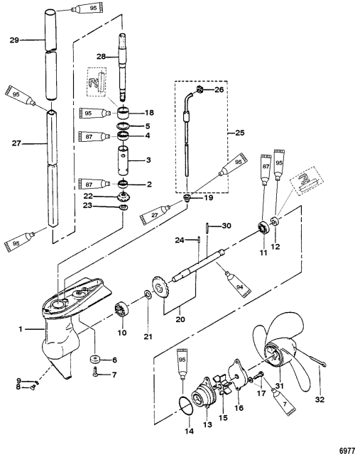 small resolution of gear housing assembly 2 2 5 horsepower for mariner mercury motherboard wiring diagram