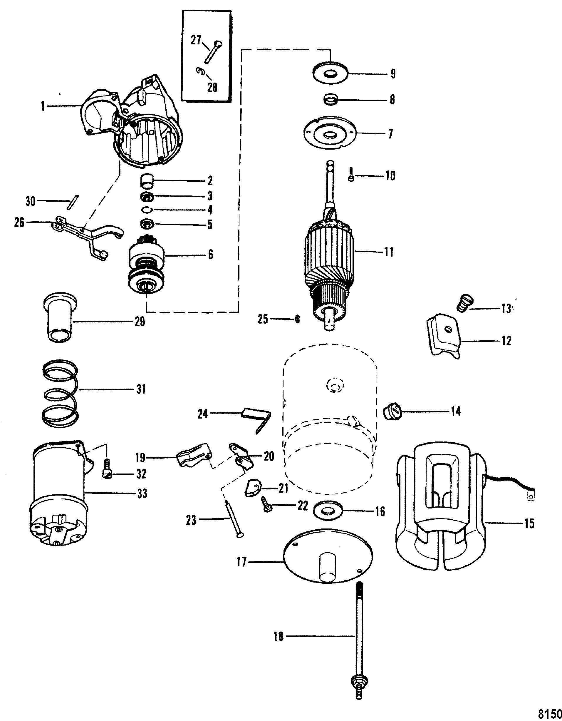 Starter Motor Delco Remy #1998317 FOR MERCRUISER 3.0L/LX