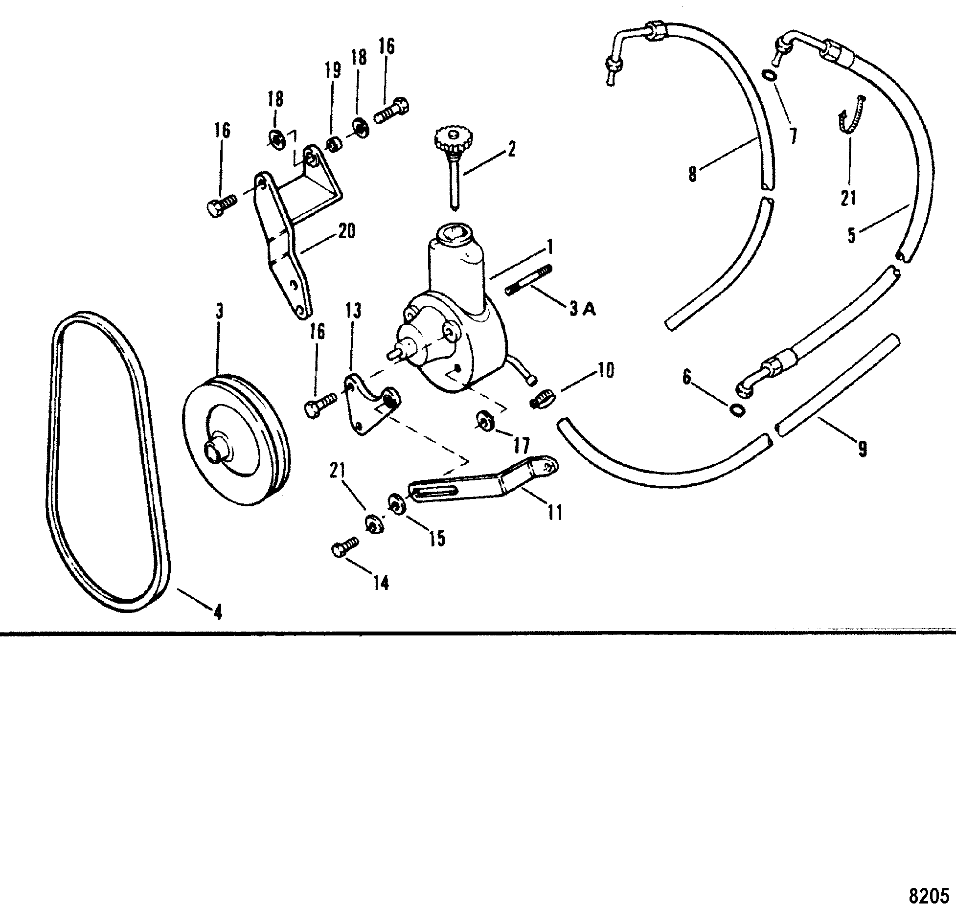alpha one sterndrive parts diagram shovelhead points wiring power steering pump assembly for mercruiser 3 0l lx