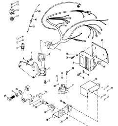 wiring harness electrical and ignition for mercruiser 454 mercruiser bravo 3 outdrive parts mercruiser 5 7 engine diagram [ 2160 x 2439 Pixel ]