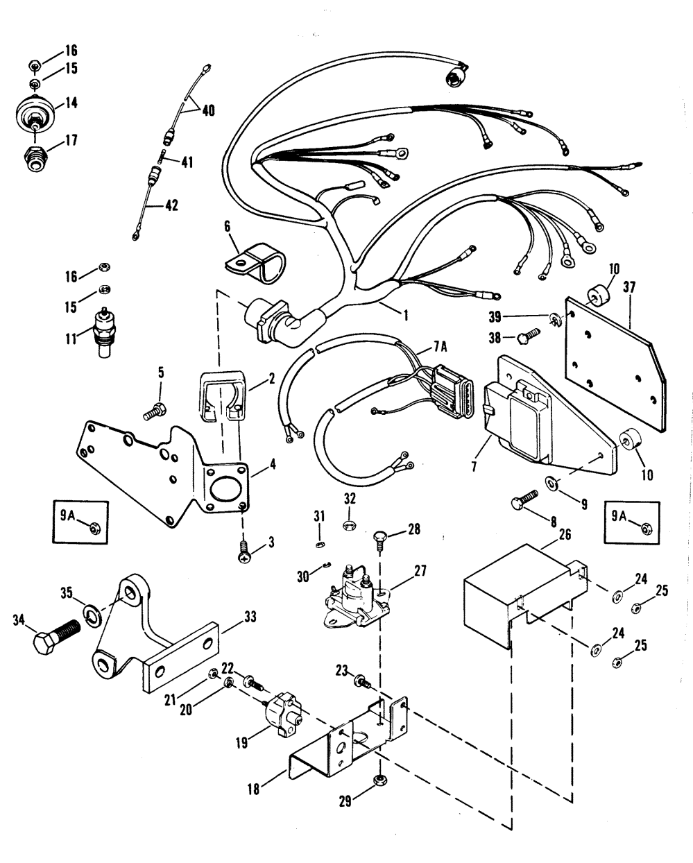medium resolution of wiring harness electrical and ignition for mercruiser 454 chevy 454 engine major problems 454 engine drawing