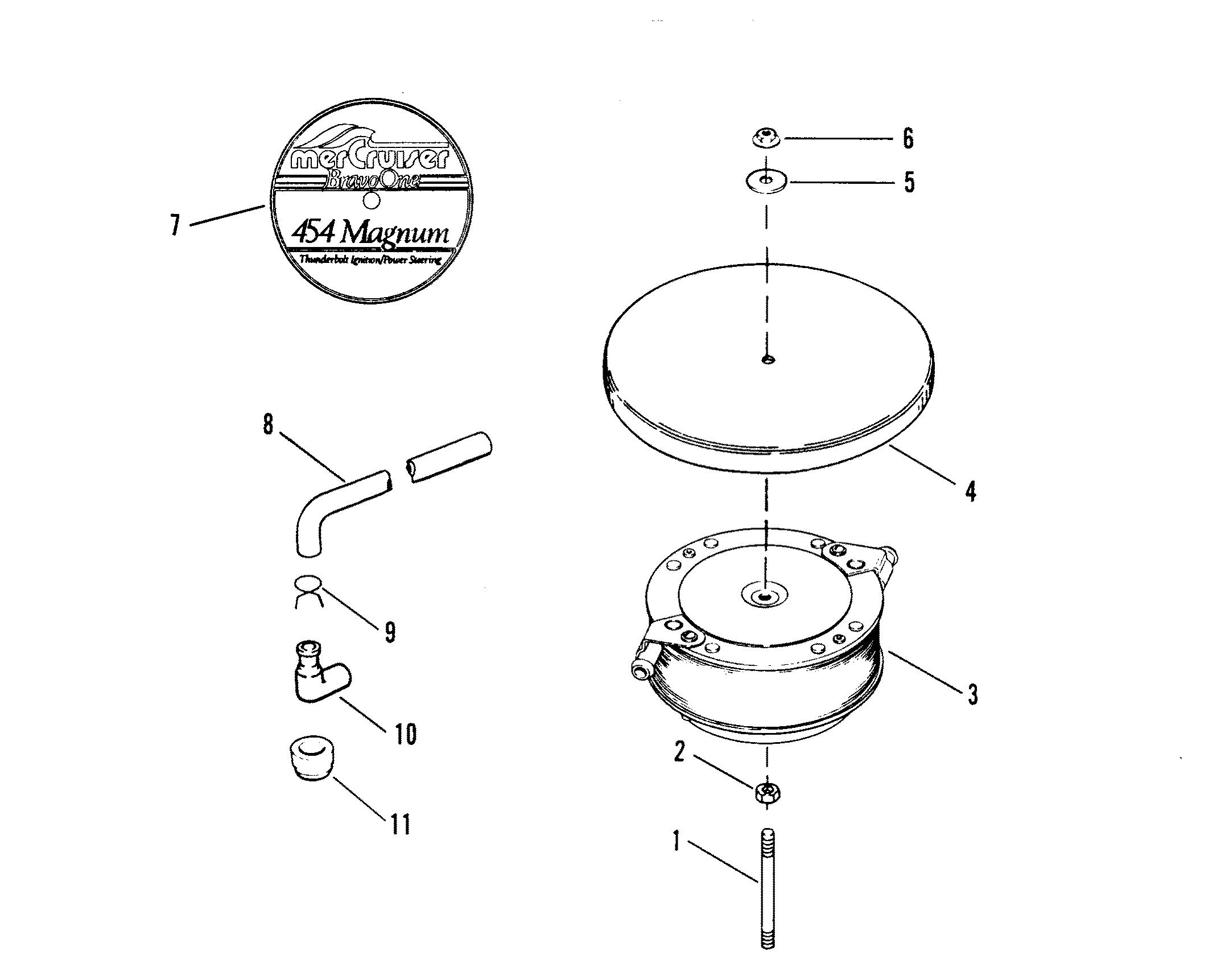 FLAME ARRESTOR OLD DESIGN FOR MERCRUISER 454 MAGNUM BRAVO