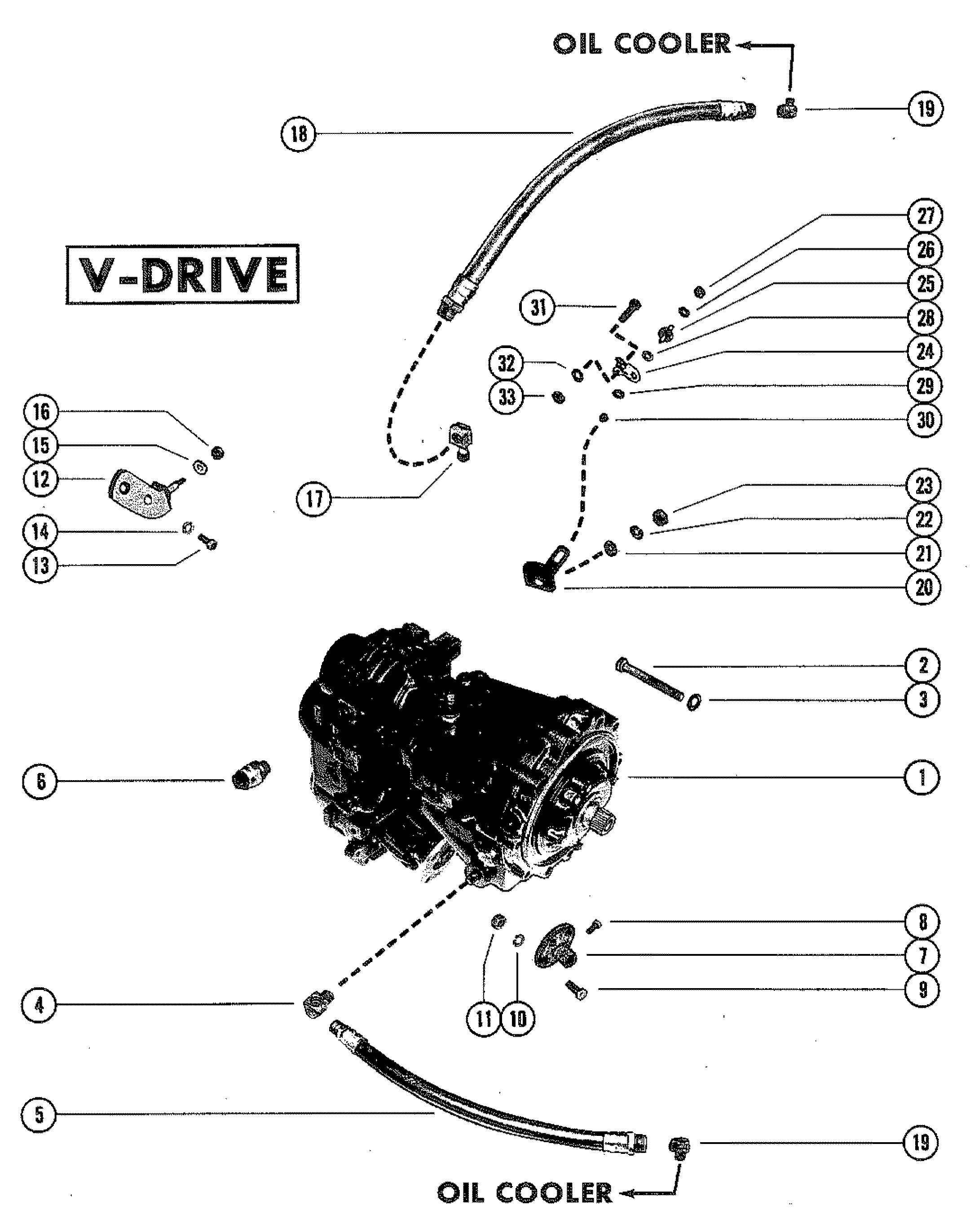 TRANSMISSION AND RELATED PARTS V-DRIVE FOR MERCRUISER 898