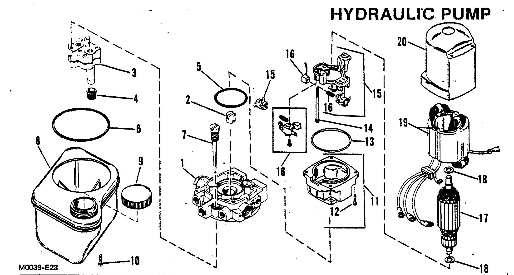 HYDRAULIC PUMP OILDYNE PUMP PLASTIC RESERVOIR FOR