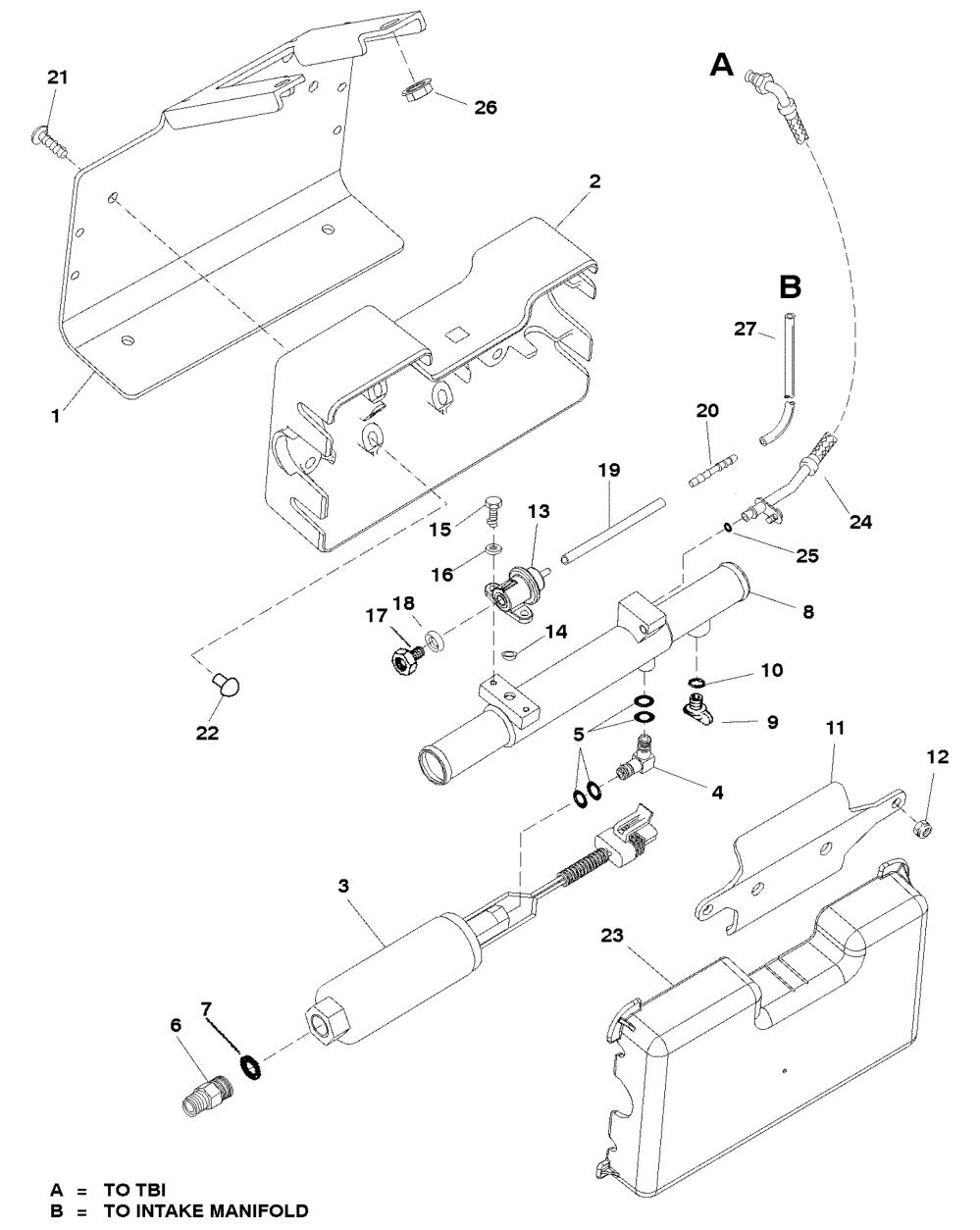 medium resolution of fuel pump and fuel cooler for mercruiser 350 mag mpi bravo rh jamestowndistributors com mercruiser 5 7 engine diagram mercruiser alpha one diagram