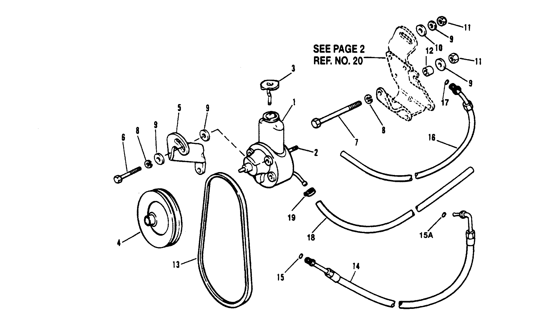 POWER STEERING COMPONENTS FOR MERCRUISER 5.7L ALPHA EFI