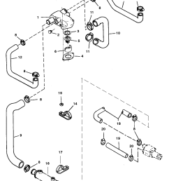 standard cooling system bravo engines for mercruiser 5 7l lx tbi 7 4 mercruiser cooling system diagram [ 2074 x 2745 Pixel ]