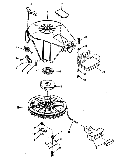 small resolution of starter assembly manual for mariner mercury 18 20 25 h p xd