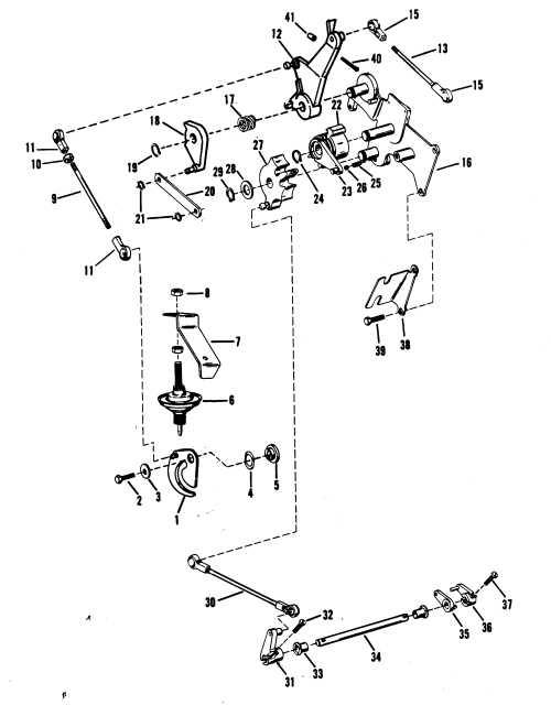 small resolution of throttle and shift linkage mercury manual for mariner mercury 18 20 25 h p xd